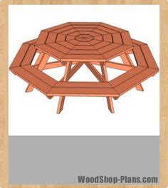 ana white build  octagon picnic table   easy