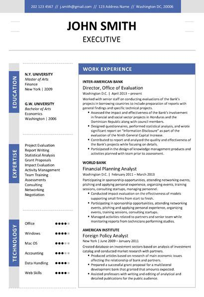 17 best images about executive resume template on