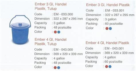 Ember 0 5 Galon 105 Shinpo selatan jaya distributor barang plastik furnitur surabaya indonesia timba ember 3 galon dan 4