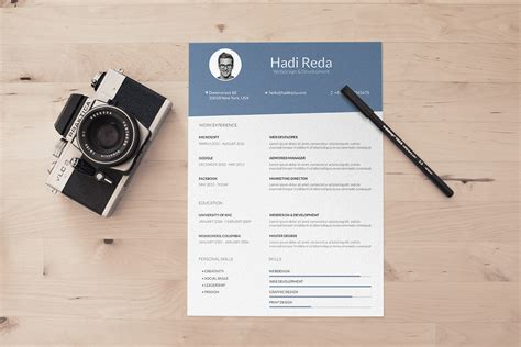 photographer curriculum vitae format 40 resume template designs freecreatives
