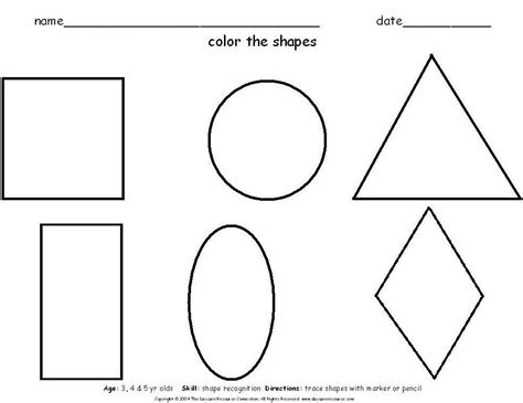 free coloring pages of find the shape