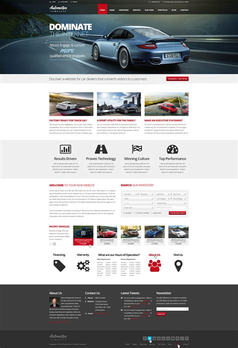 mobile themes themeforest automotive car dealership business wordpress theme by