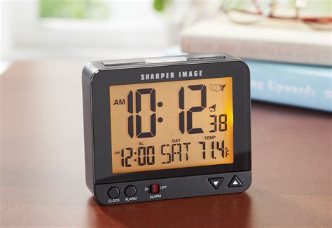 travel alarm clock sharper image