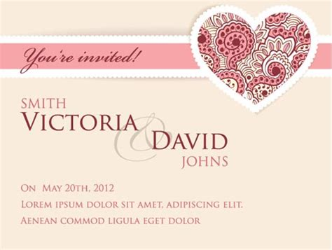 wedding invitation card templates wedding invitation cards vectors