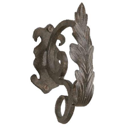iron art drapery hardware artistica drapery scroll leaf drapery brackets k73199