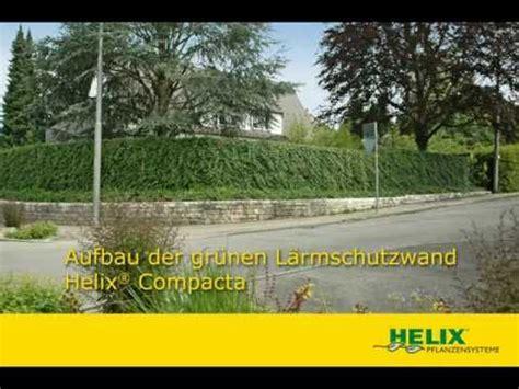 Lärmschutzwand Garten Kosten by Aufbau Der Gr 252 Nen L 228 Rmschutzwand Helix 174 Compacta