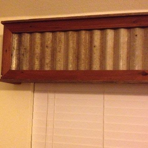 reclaimed wood  tin insert window valance wood