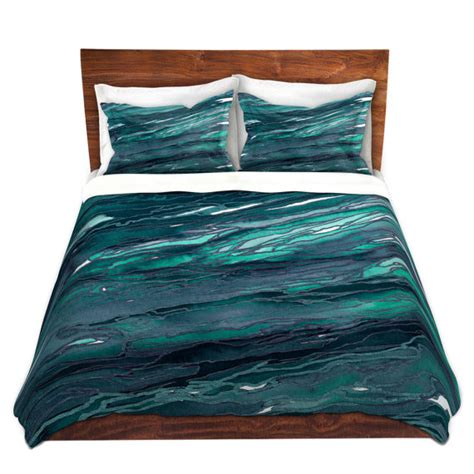 dark teal comforter agate magic dark teal blue green art marble duvet covers king