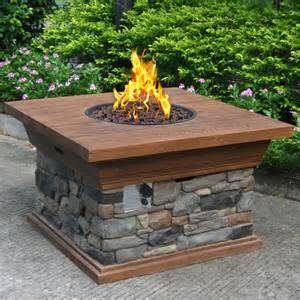 Square Fire Pit Kit - phat tommy yosemite propane fire pit contemporary fire pits by overstock com