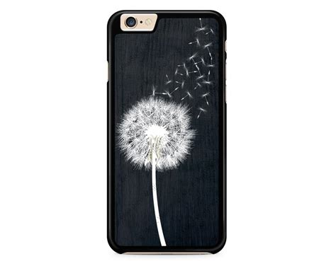 dandelion on black wood design for iphone 4 4s 5 5s