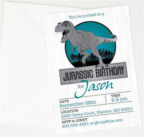 printable jurassic world birthday invitations jurassic world dinosaur party planning ideas supplies