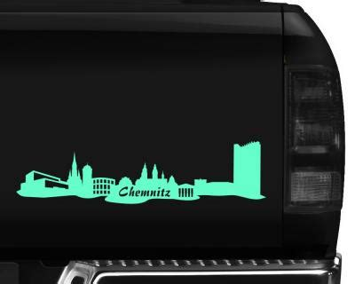 Autoaufkleber Chemnitz by T Shirt Chemnitz Skyline Collage Skyline4u