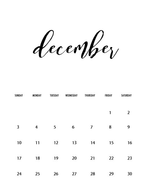printable december 2017 calendar pretty free wall calendars 2017 printable minimalist style new