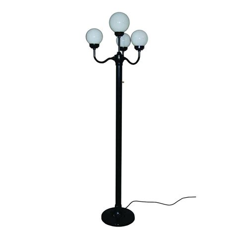 Polymer Products 76 In Outdoor Black Luminaire Floor L Outdoor Light Stand