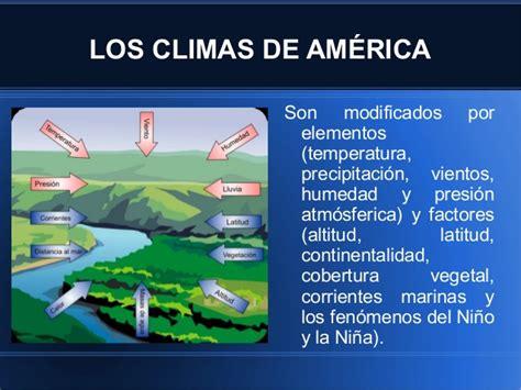 los invencibles de amrica climas de america