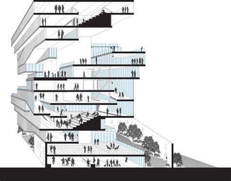 sectional perspective spotify headquarters emily ruopp archinect