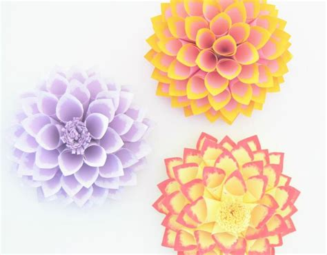 How Do You Craft Paper - how to make a paper dahlia with pictures wikihow