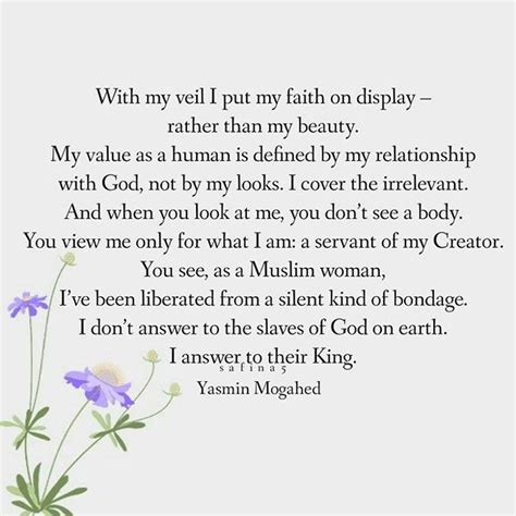 Wedding Veil Quotes by Quote By Yasmin Mogahed With My Veil I Put My Faith On