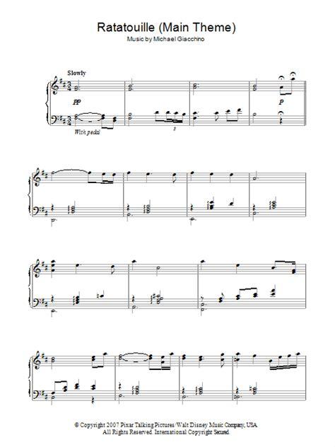 ratatouille song ratatouille main theme sheet music direct