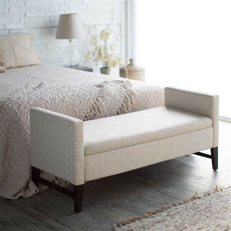 bench bedroom belham living camille upholstered backless storage bench
