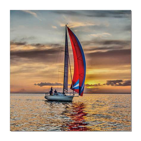 sailing boat price sailing boat at sea mounted art print buy at europosters
