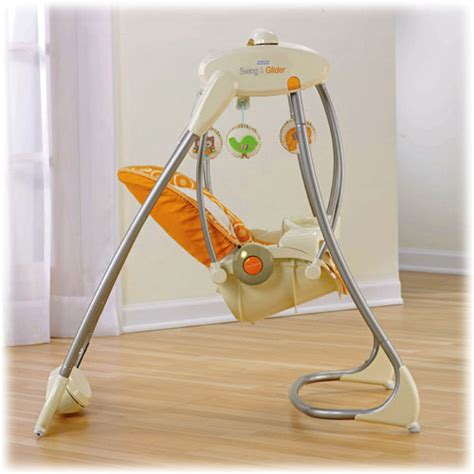 baby swing glider fisher price fisher price dreamsicle collection swing n glider swings