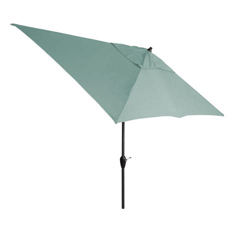 hton bay 10 ft x 6 ft aluminum market patio umbrella