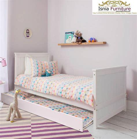 Tempat Tidur Kayu Solid tempat tidur anak sorong multiguna bahan kayu solid sangat