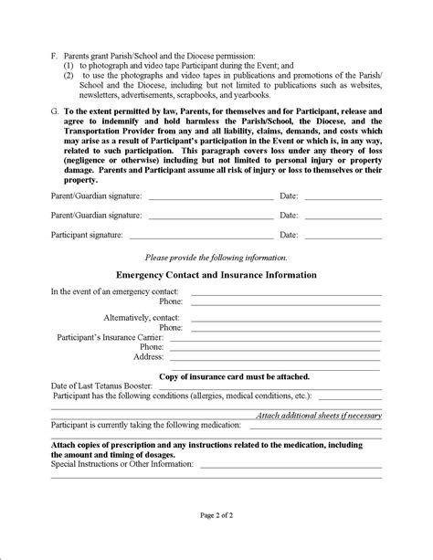 Rscit Permission Letter June 2015 Emergency Consent Form Free Printable Documents