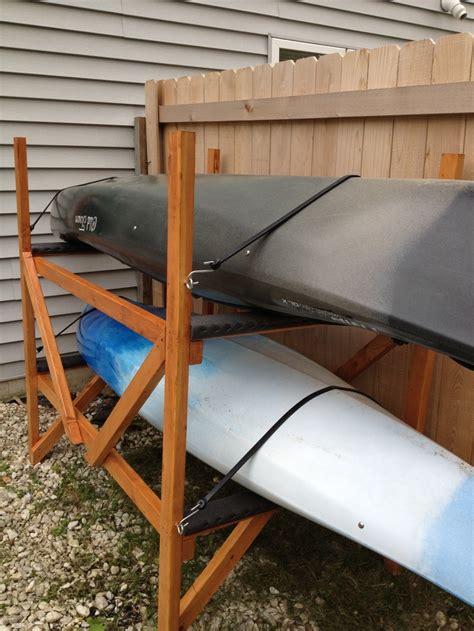 Kayak Rack by Diy Kayak Rack Kayaks Canoes Kayaks