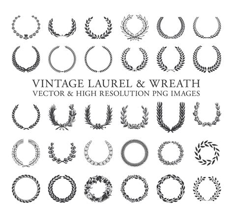 Laurel Wedding Clipart by Laurel Wreath Clipart Laurel Clipart Wreath Clipart