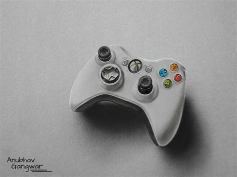 Drawing Xbox by Xbox 360 Controller Drawing By Anubhavg On Deviantart