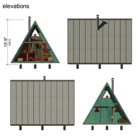 tiny home blueprints a frame tiny house plans