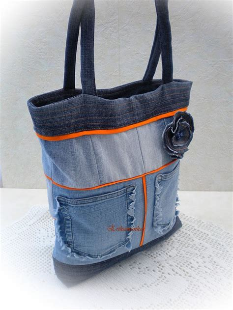 Bag Denim denim bag recycled bags
