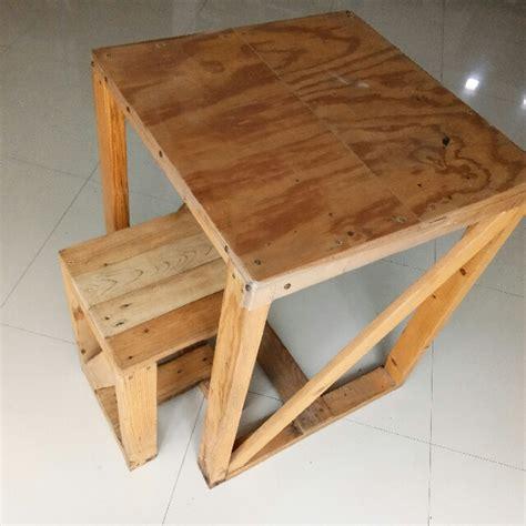 desain meja kayu palet meja kayu jati belanda perabotan rumah di carousell