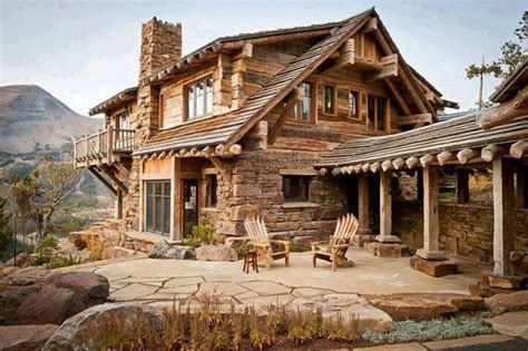 wood cabin homes cut stone and wood cabin amazing homes pinterest