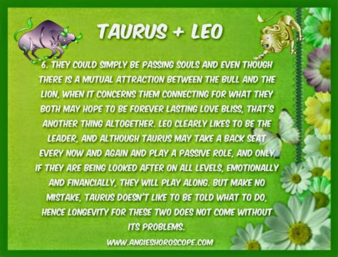 image gallery leo and taurus compatibility