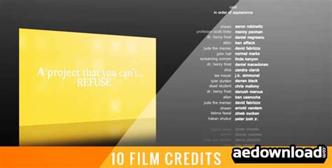 Credit Template After Effects Free 10 Credits After Effects Project Videohive Free After Effects Template Videohive
