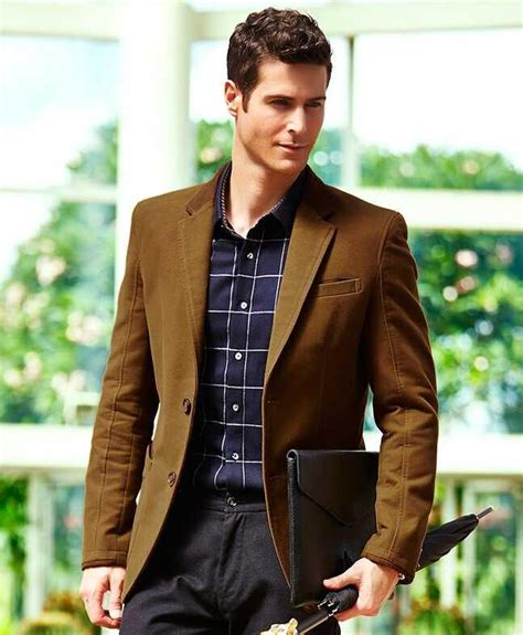 appropriate style for middle aged male leisure men s suit the gentleman noble jacket cotton