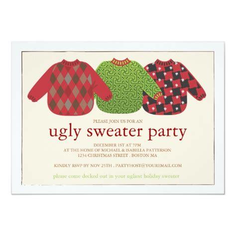 sweater invitations template sweater invitation zazzle co uk