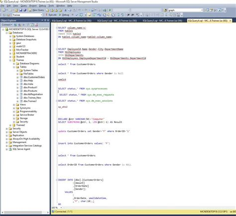 sql query notification tutorial displaying line numbers in sql query editor