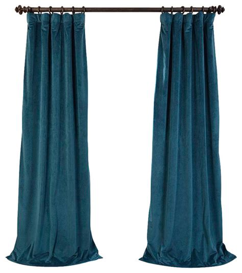 teal velvet curtains signature everglade teal blackout velvet curtain single