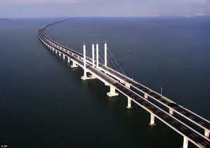 world s longest sea bridge opens in china the engineering daily