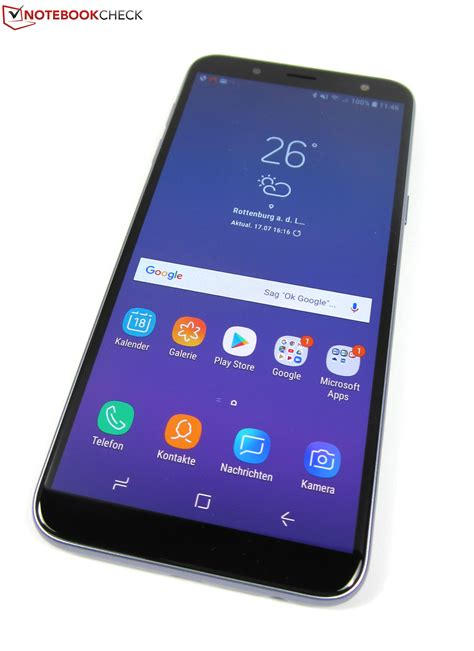 samsung galaxy j6 2018 smartphone review notebookcheck net reviews