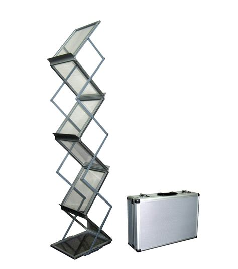 foldable metal 6 pocket brochure stand brochure holders