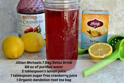 Detox Drink Recipes by 7 Day Detox Drink Recipe Water Weight Jillian