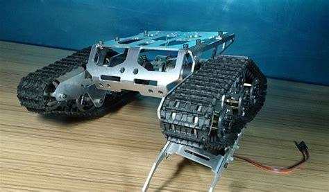 Mainan Truck Container Aquarium rc tank chassis cater pillar tractor robot crawler car diy