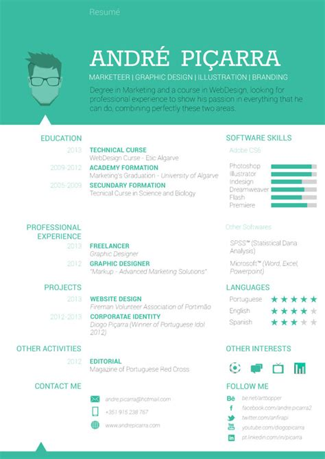 Cool Resume Designs by 40 Creative Cv Resume Designs Inspiration 2014 Web