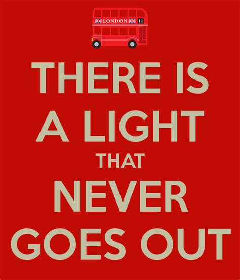 There Is A Light That Never Goes Out Poster Mtranel