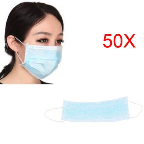 Masker Surgical Mask 1 50pcs mask respirator nail dental disposable earloop anti dust surgical masks drop